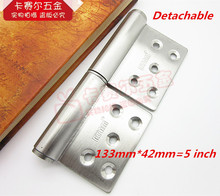 Stainless Steel Hinges Detachable 5 Inch Door Hinge Security Door Fire Doors Hinge Thickness 3mm