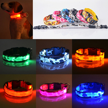 2015 New Pets Dog LED Lights Leopard Flash Night Safety Waterproof Collar Adjustable 51BJ