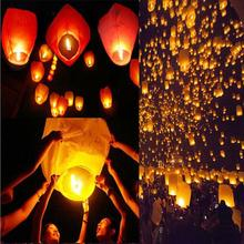 200pcs/lot White Heart shape china sky lantern flying lantern paper lantern for birthday Wedding Party(China)