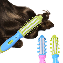 2-In-1 Comb Hair straightener Brush&Curling Flat Iron Multifunctional  Fast Electric Straightening brush Styling Curler