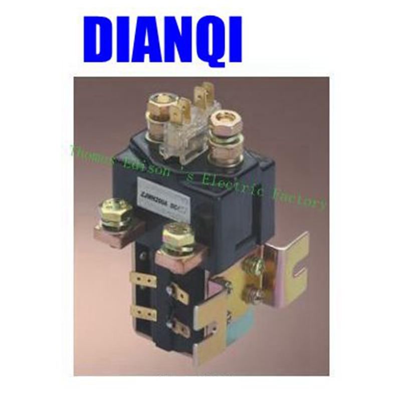 SW181 NO+NC 12V 24V 36V 48V 60V 72V 200A DC Contactor ZJWH200A for forklift handling drawing grab wehicle car winch PUMP MOTOR<br>
