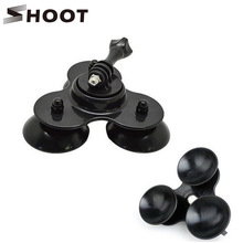 SHOOT Universal Low Angle Suction Cup Mount For Gopro HERO 2 3 3+ 4 Action Camera 3 Vacuum Go pro Bases Car Window Secure