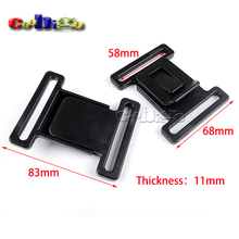 "2pcs Pack 2-9/32""(58mm) Center Release Buckle Plastic for Sports Students Casual Bags #FLC400-58B"