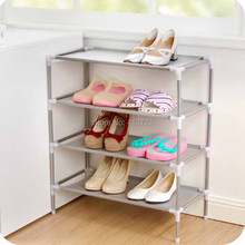 Wholesale stainless steel multi-function receive racks dormitory home furniture Shoe cabinet water proof woven simple shoe rack(China)