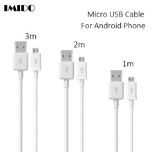 1m 2m 3m USB Micro USB Cable Android Mobile Phone Long Charging Cord 2.0 Data sync Charger microusb Cables for Samsung Galaxy