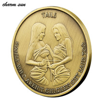 "2017 New Souvenir Coin    Retro Home ""sexuality valentine's Day valentine's Gift Gold Coins  ""memorial Gift Antique Coin"