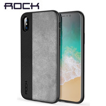 Luxury Back Case for iPhone X Brand Phone Cases Rock Soft TPU+PU Leather Phone Bag Cover All Round Protect Shell for iPhone X(China)