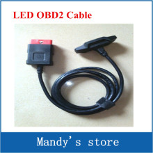 OBD II Cable LED OBD2 Cable Suitable for VD TCS CDP PRO PLUS LED OBD Cable(China)