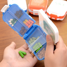 PLASTIC PILL BOX three layers portable Small size mini Storage split charging pill Cases AliExpress Shipping Registered parcel(China)