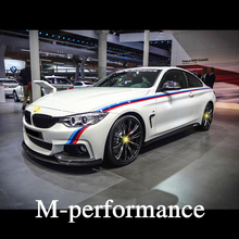 Car door Sticker 3-color side skirts Car body decorative Graphic Vinyl auto Decals Car Stickers Scratch Shade for BMW 345series