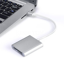 3 in 1 USB 3.0 Memory Card Reader Adapter high quality 90m/s Super Speed smart Card Reader for TF CF micro SD For pc iphone