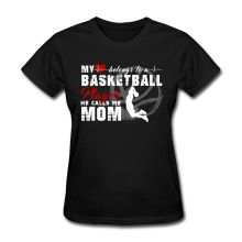 Basketballer Player Mom Women's T-Shirt Women Brand Top Harajuku Tee Shirt Korean Brand T Shirts Female Natural Cotton(China)
