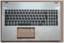 NEW Greece laptop keyboard for ASUS N56 N56V N56VJ N56VM N56VZ backlight Silver keyboard with Palmrest Cover(China)