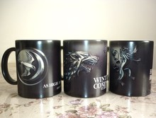 Drop shipping Game of Thrones mugs Stark Arryn Lannister Coffee Mug Color Changing Ceramic Cup surprise gift(China)