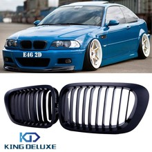 Matte Black Front Kidney Grill Grille Lattice For BMW E46 2Door 3 Series 325 330 323 328 1999-2006 Coupe Covertible #P14