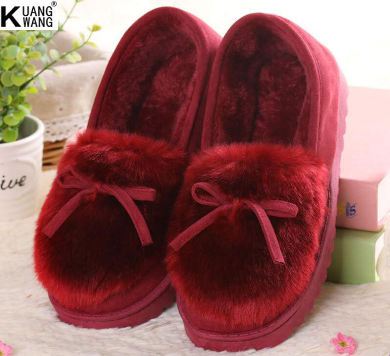 New winter home snow boots Fashion bow cotton shoes High quality womens boots Super-affordable home style<br><br>Aliexpress