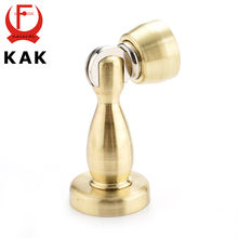 KAK Magnetic Door Stop 304 Stainless Steel Golden Door Stopper Holder Cabinet Catch Fitting For Furniture Hardware(China)