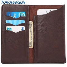 TOKOHANSUN For Highscreen Easy L Crazy Horse PU Leather Wallet Stand Phone Case Cover Cell Phone Accessories(China)