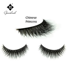 Chinese Princess Free Shipping GENIE Deluxe 100% Handmade Real Mink Fur False Eyelashes(China)
