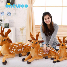 Cute Simulation Sika Deer Plush Toy Stuffed Lifelike Deer Doll High Quality Animal Soft Appease Doll Girlfriend's Birthday Gift(China)