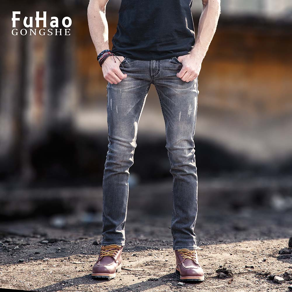 Men Jeans Skinny Ripped Stretch Slim Fit Pants Denim Men Jeans Hombre Skinny Jeans MenÎäåæäà è àêñåññóàðû<br><br>