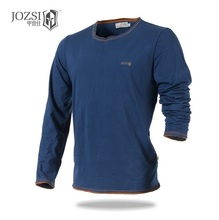 JOZSI Men Cotton T-Shirt Long Sleeve UV Protection Outdoor T shirt Blouses