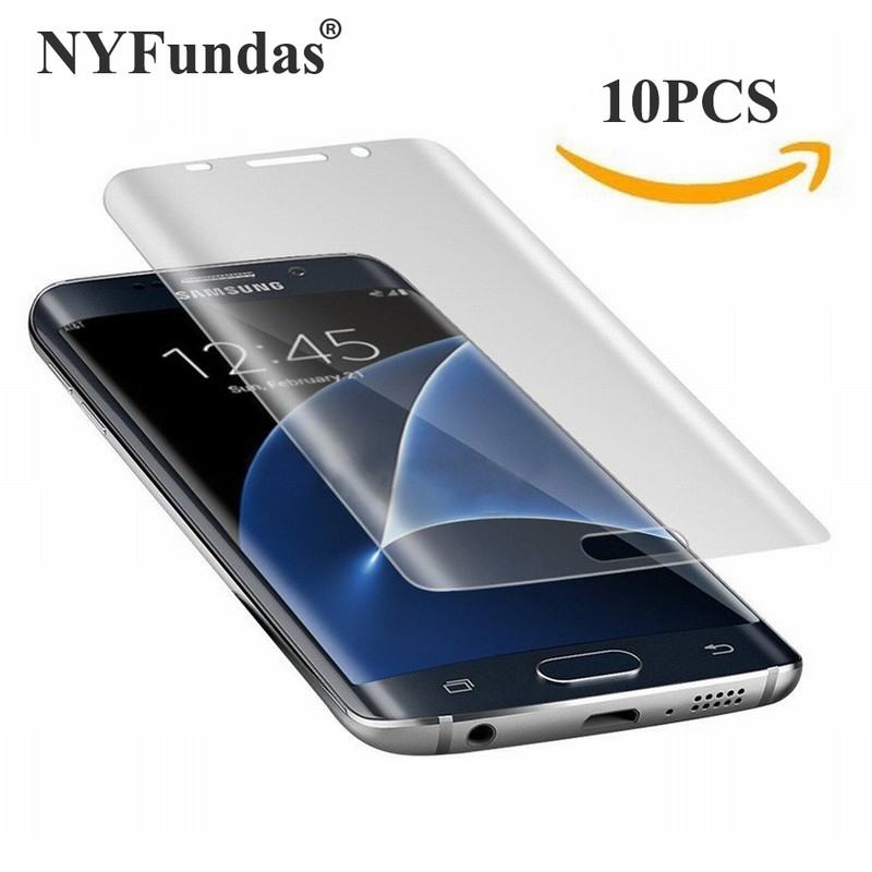 10PCS NYFundas Full 3D Coverage PET Film Curved Screen Protector for Samsung Galaxy S7 Edge S6 S8 Plus S8plus Screenprotector (1)