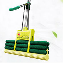 140207/Squeeze household glue cotton mops/Carbon steel rods/Humanized handle design/Absorbent sponge mop/