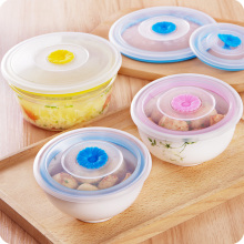 5PCS/Set Refrigerator preservationlid microwave ovens heating oil-proofcover plastic cover plates bowl cover silicone sealed lid