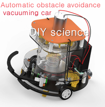 Train Automatic obstacle-avoid Vacuuming car,Newly manufacturing DIY popular science model suite Motor