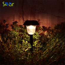 Waterproof White/Warm White Solar Lawn Light Garden Solar Power Light Outdoor Solar Lamp For Outdoor Landscape Yard Deck Pathway(China)