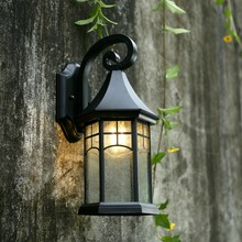 Retro outdoor wall lamp European waterproof outdoor lighting creative garden lights American balcony stairs outside wall sconce(China)