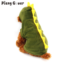 Dinosaur Dog clothes Pet Halloween Costume XS S M L XL Pet Dogs Green Coat Outfits Large(China)
