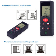 Buy 60m/197ft Mini Handheld Digital Laser Distance Meter High Precision Range Finder Area Volume Measurement Level Bubble for $20.92 in AliExpress store