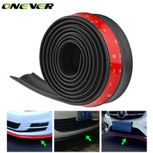 2.5M/8.2ft Universal Car Sticker Lip Side Skirt Protector Rubber Strip Car Front Lip Spoilers 60mm Width Exterior Bumper Strip(China)