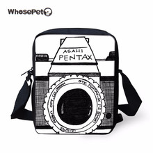 WHOSEPET 2017 New Camera Mssenger Bags For Women Cute 2D 3D Printing Crossbody Bags Girls School Bags Children Gifts Hot Sale(China)
