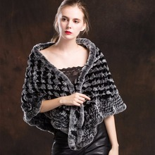 ZY87009 2017 New Arrived Women Fashion Rex Rabbit Large Scarf Color Warming Braised Rabbit Fur Shoulder  Winter Warm Shawl