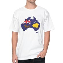Booting Flag Australia Simpons T Shirts 170457 Male Top Tees Casual 3D Design Print Short Sleeve Men's T-Shirt