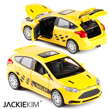New 1:30 Ford Focus Alloy Diecast Car Model Toy Electronic Metal Car With light sound Pull Back For Kids Toys Gift Free Shipping(China)
