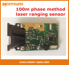 Buy Fast Free Ship 2pcs/lot 100m phase method laser ranging sensor high precision +/-1.5mm accuracy laser ranging module for $263.19 in AliExpress store
