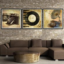 Camera Phonograph Minimalism Classical Art Canvas Poster Print Painting Picture Modern Home Decoration No Frame Free Shipping