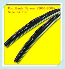 "3 Section Rubber Windscreen Wipers For Honda Stream (2000-2006),Size 24""+14""(China)"