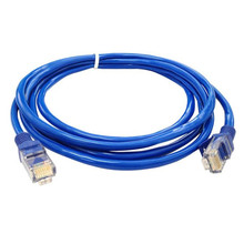 Advanced 2017 Computer Accessories New Sata Cable  Blue Ethernet Internet LAN CAT5e Network Cable for Computer Modem Router