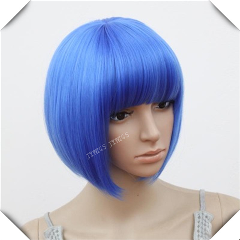 Dark Blue Hair Women Short Bob Perucas Wavy Cosplay Sexy Party Hairstyle Wigs Dark Blue Hair<br><br>Aliexpress