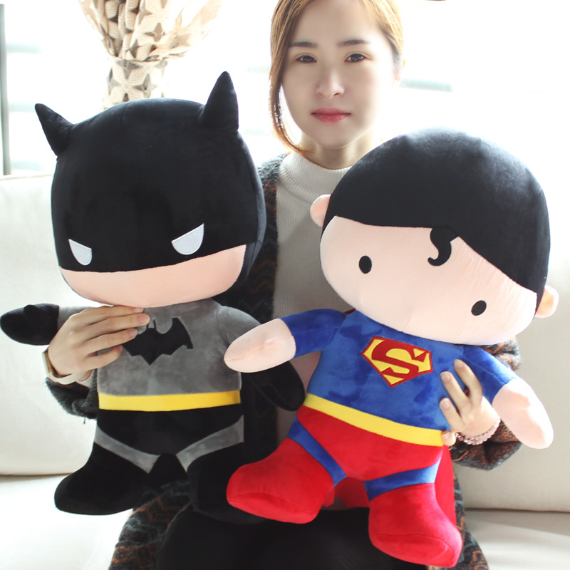 Dorimytrader50cm Funny Stuffed Soft Plush Giant Cartoon Anime Superman Batman Toy Nice Baby For Children Kids Birthday  Gift<br><br>Aliexpress