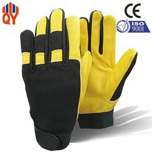Free Shipping 2015 China New Products Fashion Men Sheepskin Gloves Worker Gloves