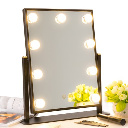 BEAUTMEI Perfect Lady Birthday Gift 2018 Newest Home Hotel Room Use LED Lighted Dressing table mirror with lights Spiegel