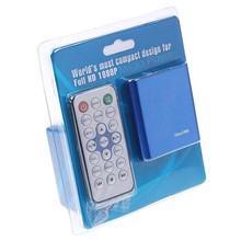 MINI 1080P Full HD Media player With SD/MMC card reader USB HDD HOST OTG with Remote Control HDMI Output