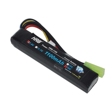HRB 7.4V 1100mAh 20C 40C RC Lipo Battery For Mini Airsoft BB Guns Model RC Battery AKKU Mini Tamiya(China)