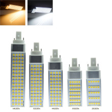 E27 g24 led 2 pins g24d-1 g24d-3  pl bulb Lamp LED Corn Lamp Bombillas Light 5050 SMD Spotlight AC85-265V Horizontal Plug Lamp